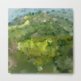 Mountain Forest Green Life Adventure Metal Print