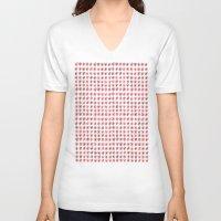 flower pattern V-neck T-shirts featuring Flower Pattern by theDiligentPress