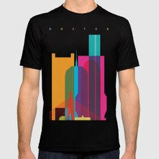 Shapes of Boston. Accurate to scale Mens Fitted Tee Black MEDIUM
