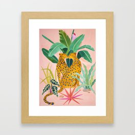 Cheetah Crush Framed Art Print