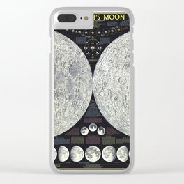 Map of the Moon Clear iPhone Case