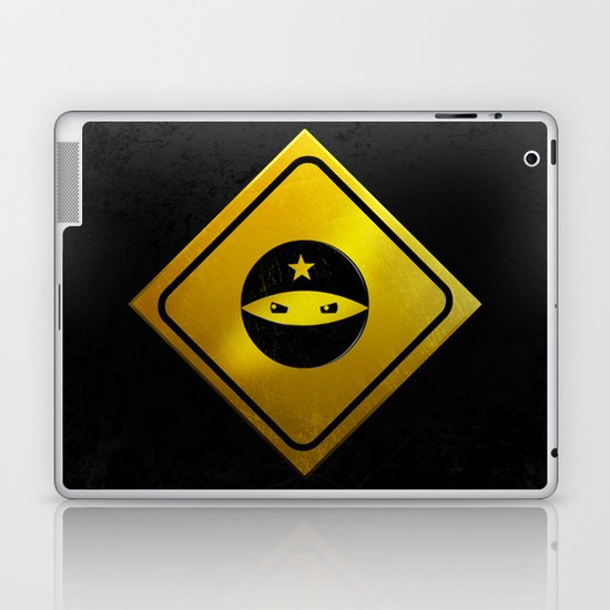 BEWARE! NINJAS AHEAD. Laptop & iPad Skin