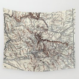 Vintage Map of Arizona (1911)  Wall Tapestry