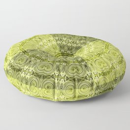 Olive mandala Floor Pillow