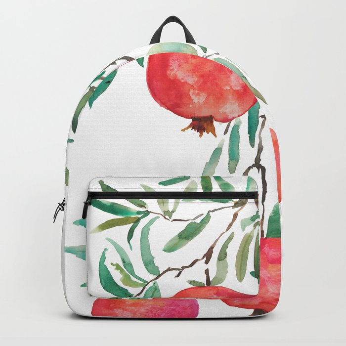 red pomegranate watercolor Backpack