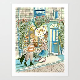 Can We Go Get A Croissant? It Looks So Good! Art Print