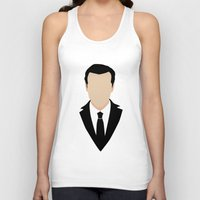 moriarty Tank Tops featuring 3 Jim Moriarty by Alice Wieckowska