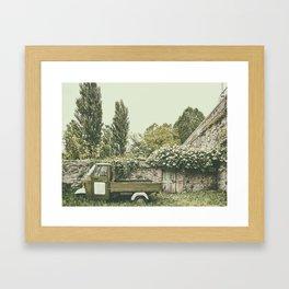 Italian country life Framed Art Print