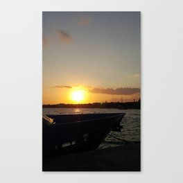 Sunset in Cozumel Canvas Print