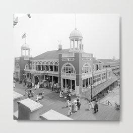 The Steel Pier at Atlantic City 1915 Metal Print