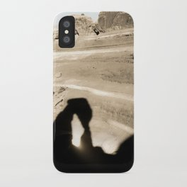 Delicate Arch shadow iPhone Case