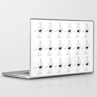 skeleton Laptop & iPad Skins featuring skeleton by Astro Nascha