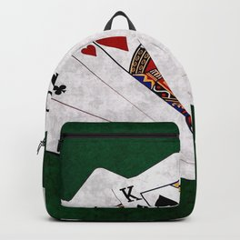 Poker Hand Two Pair Ace King Ten Backpack
