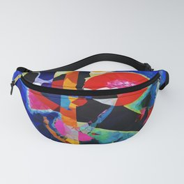 Red Blue Modern Abstract Low Poly Geometric After Kandinsky Fanny Pack