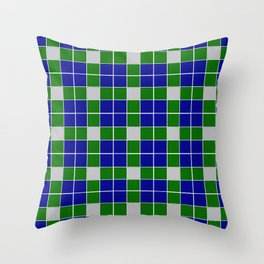 Team Colors 11 blue,green , silver pattern Throw Pillow
