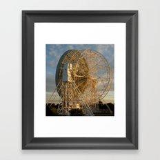 sunset at the telescope Framed Art Print