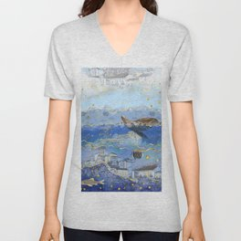 On Earth as It Is in Heaven? - Surreal Climate Change Art Unisex V-Neck
