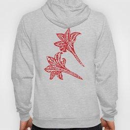Retro Red Chic Polynesian Tribal Geometric Graphic Floral Tattoo Hoody