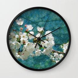 Blossom Textured Wall Clock