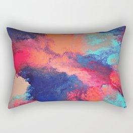 Arcylic Pouring - Bright Rectangular Pillow