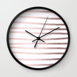 Simply Drawn Stripes Rose Gold Palace Wall Clock
