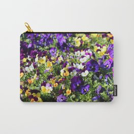 Cheerful Pansies Carry-All Pouch