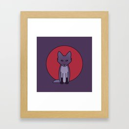 Purple Fox - Kitsune Visits Japan Framed Art Print