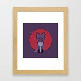 Purple Fox - Kitsune Visits Japan Framed Art Print