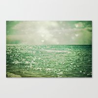 sky Canvas Prints featuring Sea of Happiness by Olivia Joy StClaire