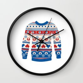 Cozy sweater Wall Clock