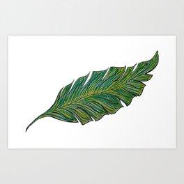 Australica Banana Leaf Art Print