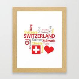 My Favorite Swiss Things Framed Art Print