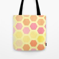 honeycomb Tote Bags featuring Honeycomb by MisfitIsle