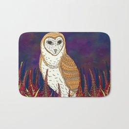 Barn Owl and Fireweed Bath Mat