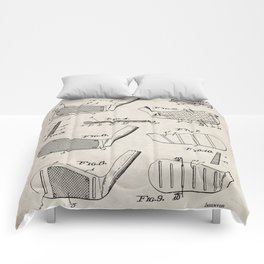 Golf Clubs Patent - Golfing Art - Antique Comforters