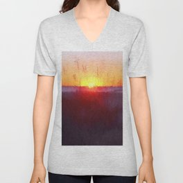 Florida Beach Scene #1 Unisex V-Neck