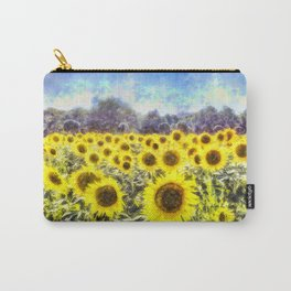 Sunflower Fields Of Summer Dreams Carry-All Pouch
