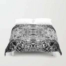 Black & White Crystal Cavern Duvet Cover