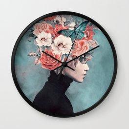 blooming 3 Wall Clock