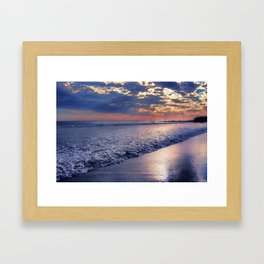 Peace of Mind Cayucos Beach Framed Art Print