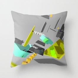 3D Abstract Art Piece Throw Pillow