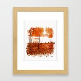 West Texas Windmill Framed Art Print