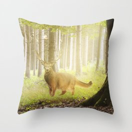 Catstag Throw Pillow