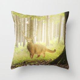 Catstag Throw Pillow