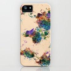 world map Slim Case iPhone (5, 5s)