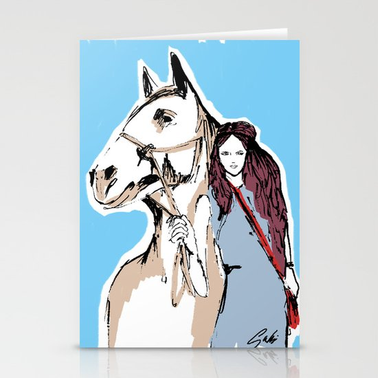 Horse love Stationery Cards