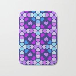 Ultra-Violet Heart Quilt Bath Mat