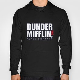 Dunder Mifflin The Office Logo,white Hoody