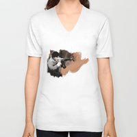 rocky V-neck T-shirts featuring ROCKY by Bernardo Furlanetto