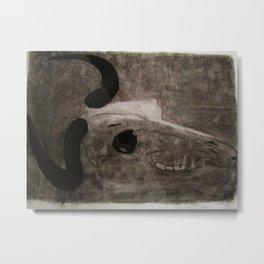 Small Charcoal Skull Metal Print